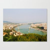 budapest Canvas Prints featuring Budapest by Robert McHugh