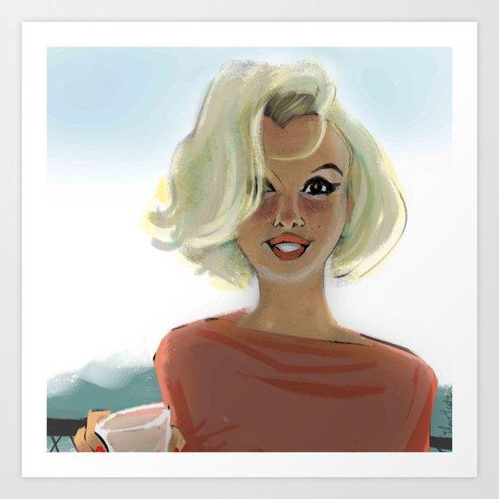 marilyn in l.a. Art Print