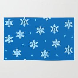 Blue Snowflakes Rug