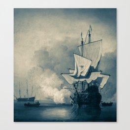 Jack ship pirate painting Canvas Print