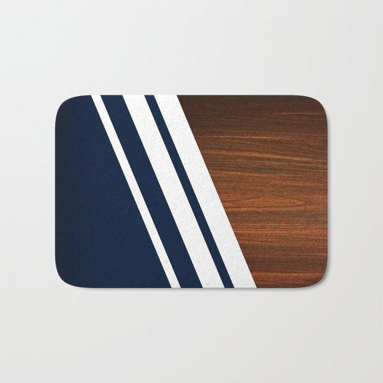 Wooden Navy Bath Mat