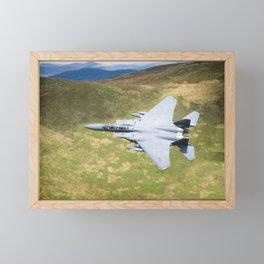 Low Flying F-15E Strike Eagle Framed Mini Art Print