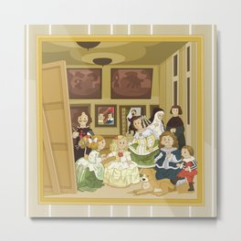 The Maids of Honour by Velázquez (Las Meninas)  Metal Print