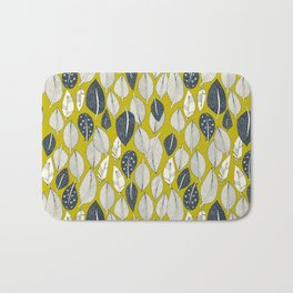 leaves and feathers chartreuse Bath Mat