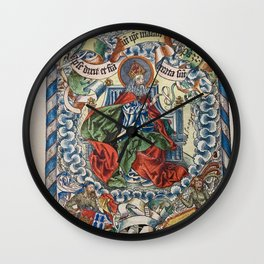 God Enthroned from the Nuremberg Chronicle Wall Clock