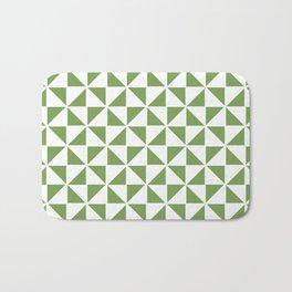 Pinwheel Quilt Pattern in Apple Green Bath Mat