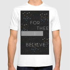 FOR THEE I BELIEVE Mens Fitted Tee MEDIUM White
