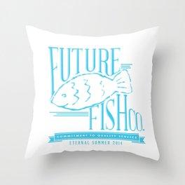 FUTURE FISH CO. Throw Pillow