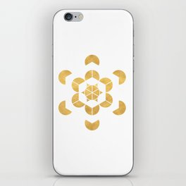 HEXAHEDRON CUBE sacred geometry iPhone Skin
