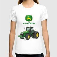 john green T-shirts featuring John Deere Green Tractor by rumahcreative
