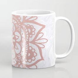 Rose Gold Mandalas on Marble Coffee Mug