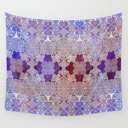 lace weave with center florals Wall Tapestry