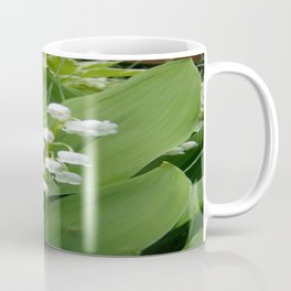 Pure White Lily of the Valley Flower Macro Photograph Coffee Mug