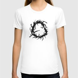 Circle Tree Pen Drawing T-shirt