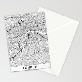London White Map Stationery Cards