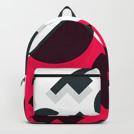 Minimal Abstract Art Pattern Geometric Backpack