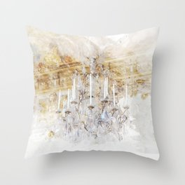 Palace Chandelier 2 Throw Pillow