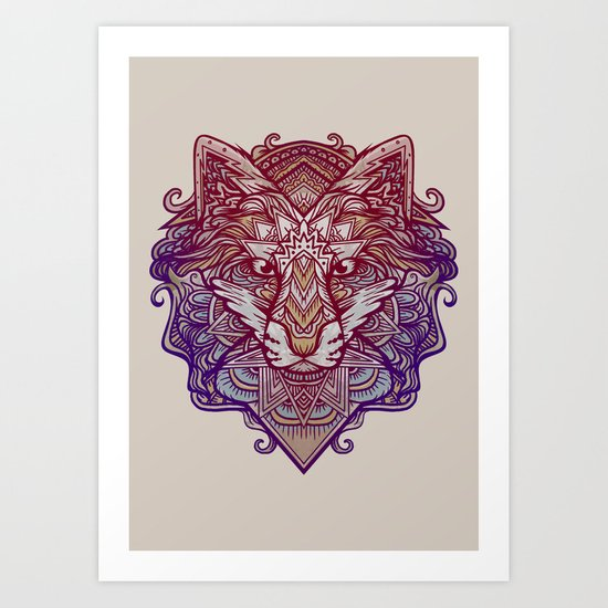 Wolf Ornament Art Print