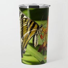 Swallowtail on the Crocosmia Travel Mug