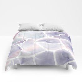 Watercolor stone texture Comforters