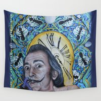dali Wall Tapestries featuring Dali  by Magdalena Almero