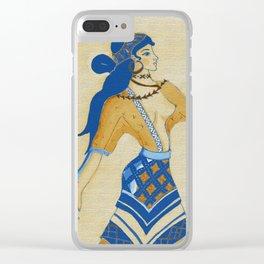 Minoan Woman Clear iPhone Case