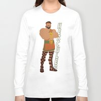 hercules Long Sleeve T-shirts featuring Hercules by Young Jake