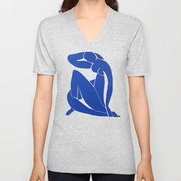 Henri Matisse - Blue Nude 1952 - Original Artwork Reproduction Unisex V-Neck