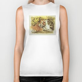 Tiger in free Wilderness Biker Tank