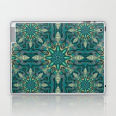 Colorful abstract ethnic floral mandala pattern design Laptop & iPad Skin