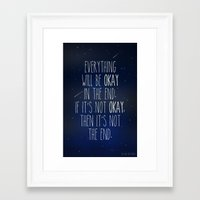 the fault in our stars Framed Art Prints featuring The Fault In Our Stars by Adel