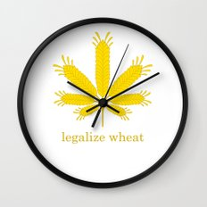 Legalize Wheat Wall Clock
