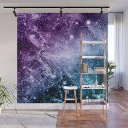 Purple Teal Galaxy Nebula Dream #4 #decor #art #society6 Wall Mural