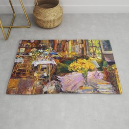 Classical Masterpiece 'The Room Full of Flowers' by Frederick Childe Hassam Rug
