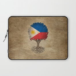 Vintage Tree of Life with Flag of Philippines Laptop Sleeve
