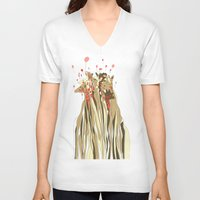 tangled V-neck T-shirts featuring Tangled by Julia Kisselmann