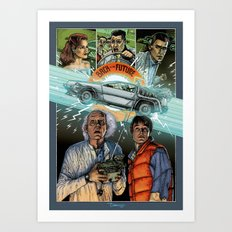 Back to the future Art Print