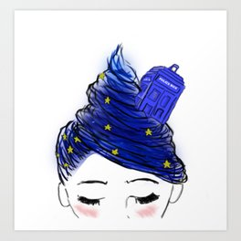 The Girl With The T.A.R.D.I.S Hair Art Print