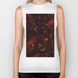 Mystical Night Rose & Poppy Garden Biker Tank