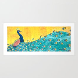 Peacock - Majestic Art Print