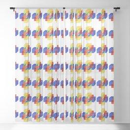 hypercube prism  Sheer Curtain