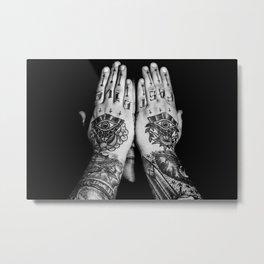 Live Fast Hands Metal Print