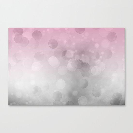Pink light abstract bokeh design Canvas Print