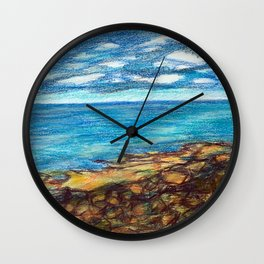 maine coast seascape Wall Clock