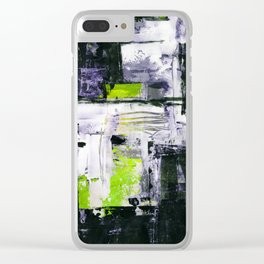 Transcendental Composition No.1c by Kathy Morton Stanion Clear iPhone Case
