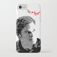 dexter iPhone & iPod Cases featuring Dexter by Crazy Thoom