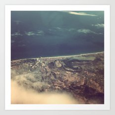 Perpignan From The Air Art Print