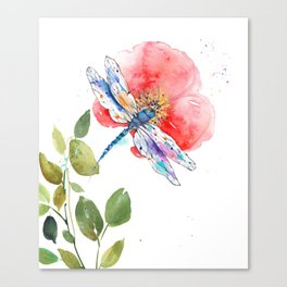 Dragonfly on a flower I Canvas Print