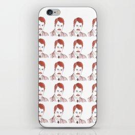 "Ron Swanson ""Diptych"" iPhone Skin"