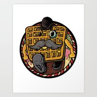 Distinguished Waffleman. Art Print